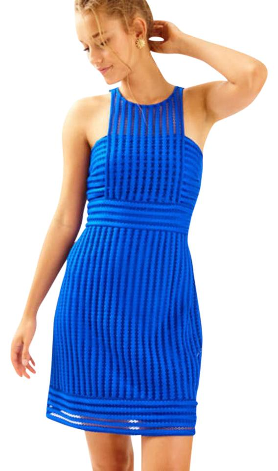 Royal blue lace dress lilly pulitzer