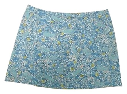 23a534fcb Lilly Pulitzer Lilly Pulizter Blue Yellow White Monkey Floral Cotton Wrap  Skirt 2704a free shipping
