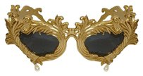 Linda Farrow for Jeremy Scott LINDA FARROW JEREMY SCOTT GOLD BAROQUE PEARL TEARDROP SUNGLASSES