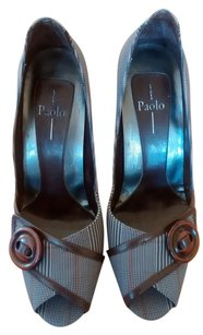 Linea Paolo 5.5 Grey Fabric / Leather Pumps
