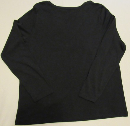 ca6faca786ced outlet Liz Claiborne Pleat Front Long Sleeve Tee Shirt. T Shirt Black