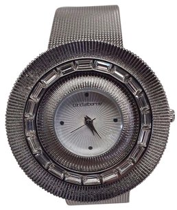 Liz Claiborne Liz Claiborne Lc1113 Crystals Silver Mesh Band Analog Womens Watch Doesnt Work