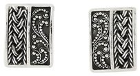Lois Hill Lois Hill Nature-inspired Earrings - Sterling Silver Woven Clip-ons Non-pierced