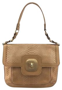 Longchamp Exotic Gatsby Embossed Flap Shoulder Bag