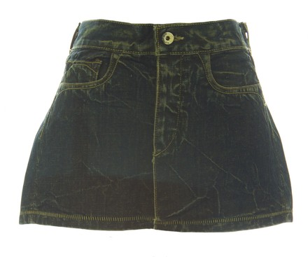 Loomstate Womens Dusk Slave Distressed Denim Mini Skirt best