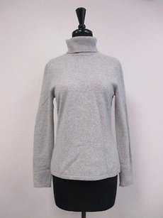 Lord & Taylor Solid Grey 100 Sweater