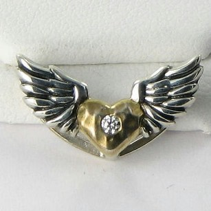 Lori Bonn Lori Bonn 212183zdi Slide Charm Hot Wings Gold Heart Cubic Zirconia 925