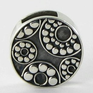 Lori Bonn Lori Bonn 29916 Slide Charm I Get Around Circles Sterling Silver