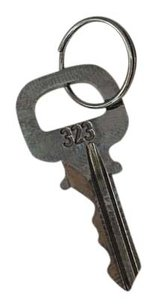 Louis Vuitton #323 BRUSHED TITANIUM One of a kind Key. Ships Same/Next Day.