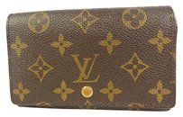 Louis Vuitton Auth LOUIS VUITTON NEED REPAIR Tresor Wallet Purse Monogram M61736 F/S 9784eRN