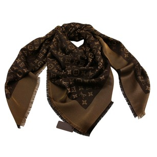 Louis Vuitton Brand New Authentic LV Shiny Brown Monogram Shine Shawl & Wrap M75122