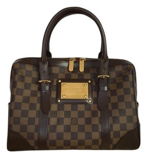 Louis Vuitton Damier Ebene Berkeley Satchel in Brown