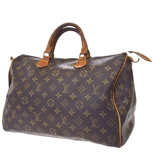 Louis Vuitton Hand Leather Brown Travel Bag