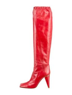Louis Vuitton Womens Leather High Heel Pump Red Boots