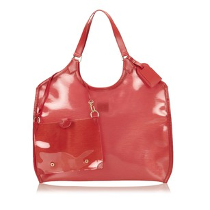 Louis Vuitton Leather Others Plastic Tote