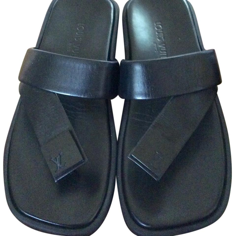 Louis Vuitton leather sandals brand new