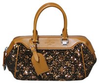 Louis Vuitton Limited Edition Caramel Monogram Sequins Ruthenium Hardware Sunshine Express Baby Baby Baguette