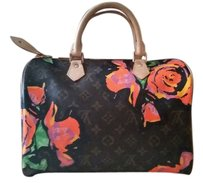 Louis Vuitton Limited Edition Monogram Satchel in Roses