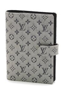 Louis Vuitton Louis Vuitton Blue Mini Lin Canvas Ring Agenda Cover