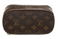 Louis Vuitton Louis Vuitton Brown Monogram Trousse Blush PM Cosmetic Pouch