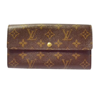 Louis Vuitton LOUIS VUITTON Credit Long fold Monogram Leather Wallet Purse