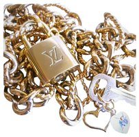 Louis Vuitton Louis Vuitton Lock & Key #308 BONUS High End Jewelry Chains & Charms