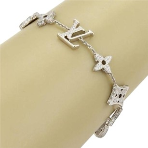 Louis Vuitton Louis Vuitton Monogram 18k White Gold All Around Diamond Bracelet