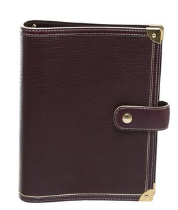 Louis Vuitton Louis Vuitton Purple Leather Suhali PM Agenda Cover