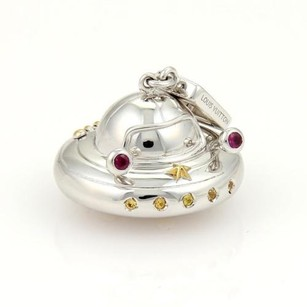 Louis Vuitton Louis Vuitton Yellow Diamonds Rubies Ufo Flying Saucer Charm In 18k Wgold
