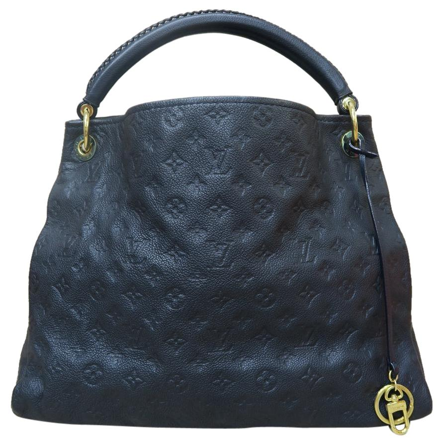 free shipping Louis Vuitton Empreinte Artsy Mm Navy Blue Tote Bag ...