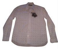 Louis Vuitton Lv Lv Monogram Shirt Shirt Wear Button Down Shirt White