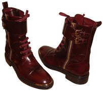 Louis Vuitton Made In Italy Street Style Burgundy Boots