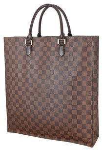 Louis Vuitton Mi 0014 Leather Tote in Brown
