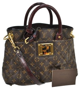 Louis Vuitton Mm 2way Tote in Brown, Bordeaux
