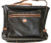 Louis Vuitton Monogram Leather Travel Luggage Brown, beige Travel Bag