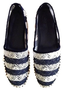Louis Vuitton Navy & White (Guaranteed Authentic) Flats