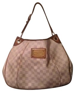 Louis Vuitton Neverfull Damier Azur Galleria Monogram Hobo Bag