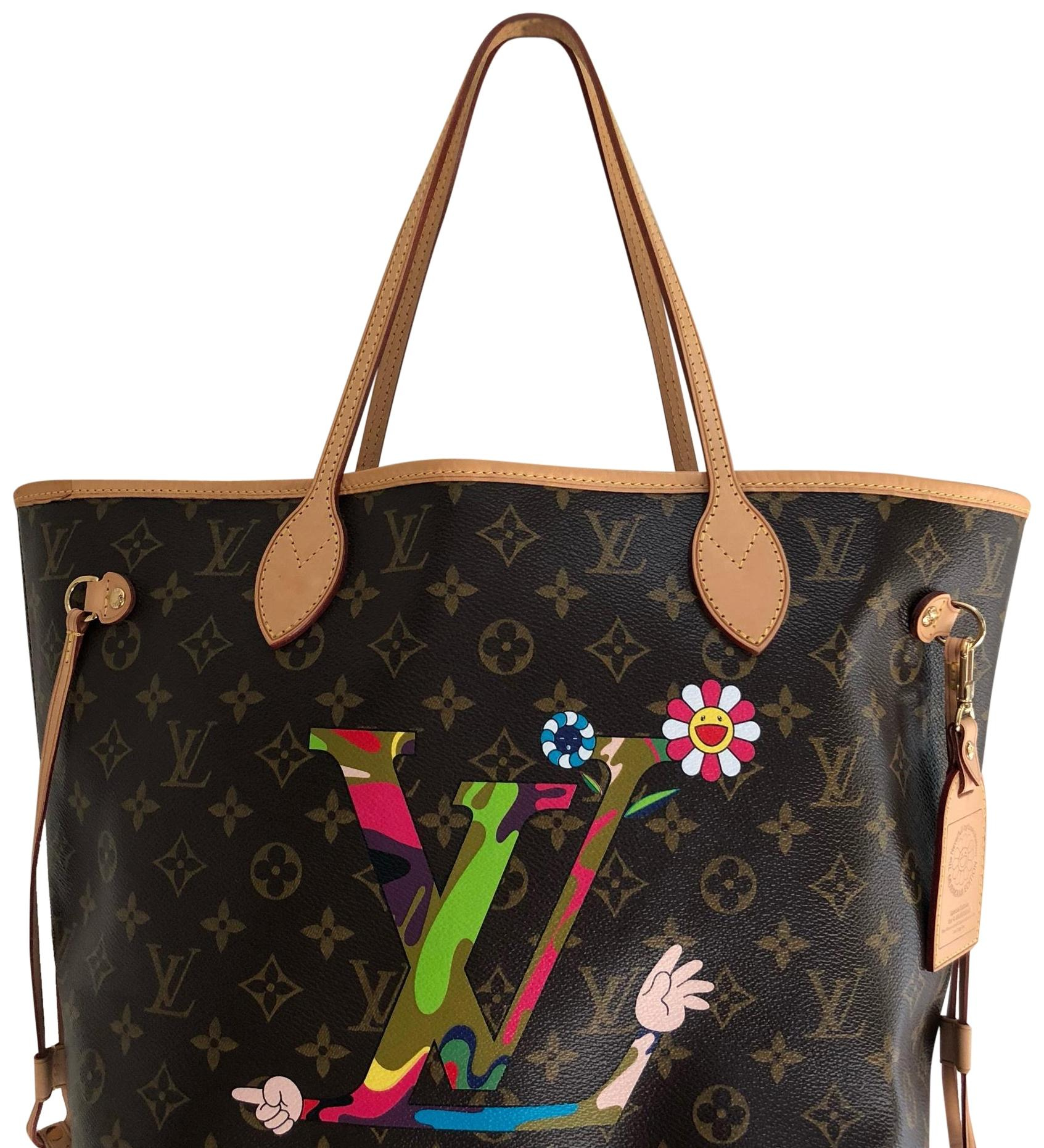 Louis Vuitton Murakami Bag In Monogram Coated And Cowhide Trim