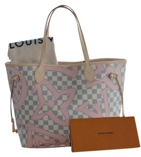 Louis Vuitton Neverfull Limited Edition Neverfull Tote in (Damier Azur Tahitienne)