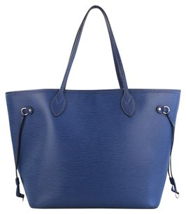 Louis Vuitton Neverfull Mm Epi Leather Tote in Blue