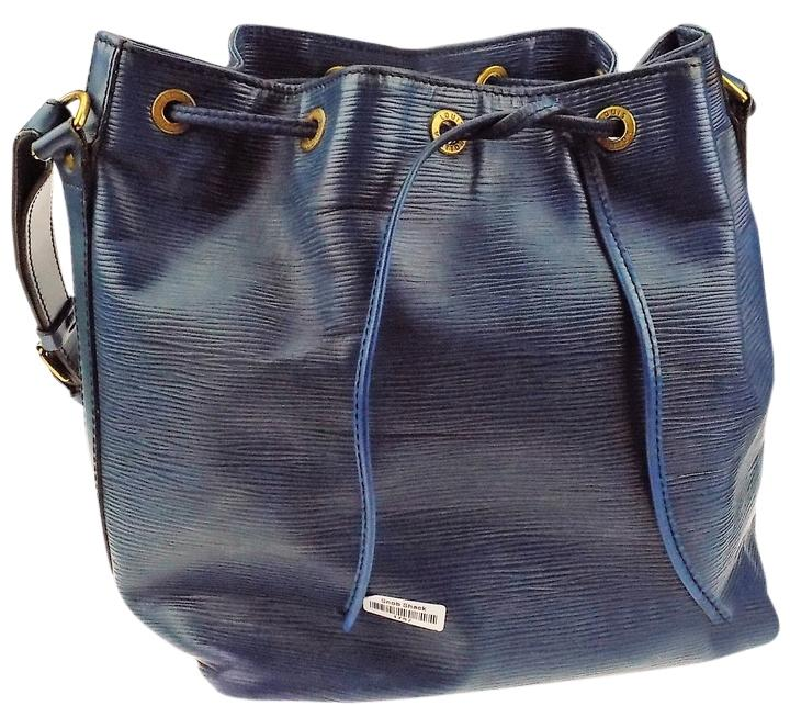 Louis Vuitton Noe Large Blue Epi Leather Shoulder Bag FuZXd9VF