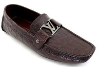 Louis Vuitton Nwt $2501.86 Louis Vuitton Burgandy Men's Loafers Driving Shoes Un Caiman Exotic Leather