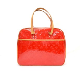 Louis Vuitton Red Leather Shoulder Bag