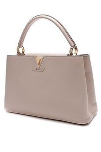 Louis Vuitton Taurillon Satchel in Galet (Beige)