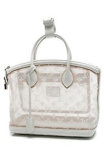 Louis Vuitton Limited Edition Satchel in Nude, White