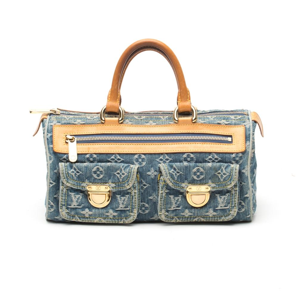 Louis Vuitton Denim Monogram Top Handle Bag - 2005 BNA1bch1U
