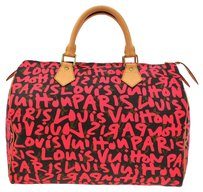 Louis Vuitton Speedy 30 Brown, Pink Travel Bag