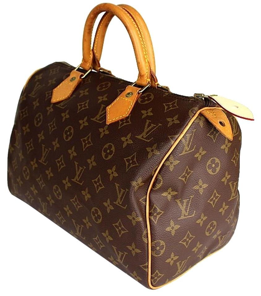 Louis Vuitton Speedy 30 Bag In Brown Monogram Canvas And Natural Cow Leather PQLKMa