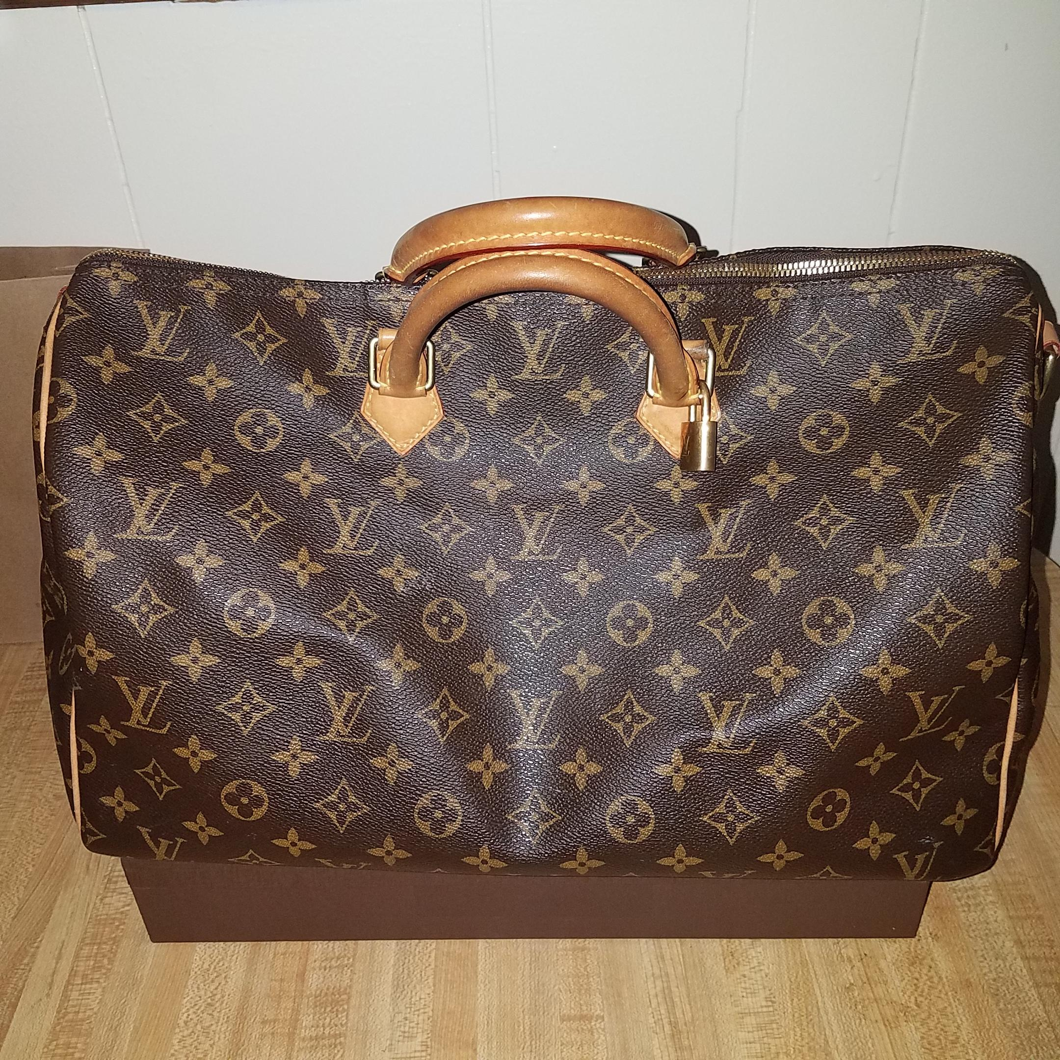 Louis Vuitton Monogram Speedy 40 Top Handle Satchel Handbag gKBTyXftg
