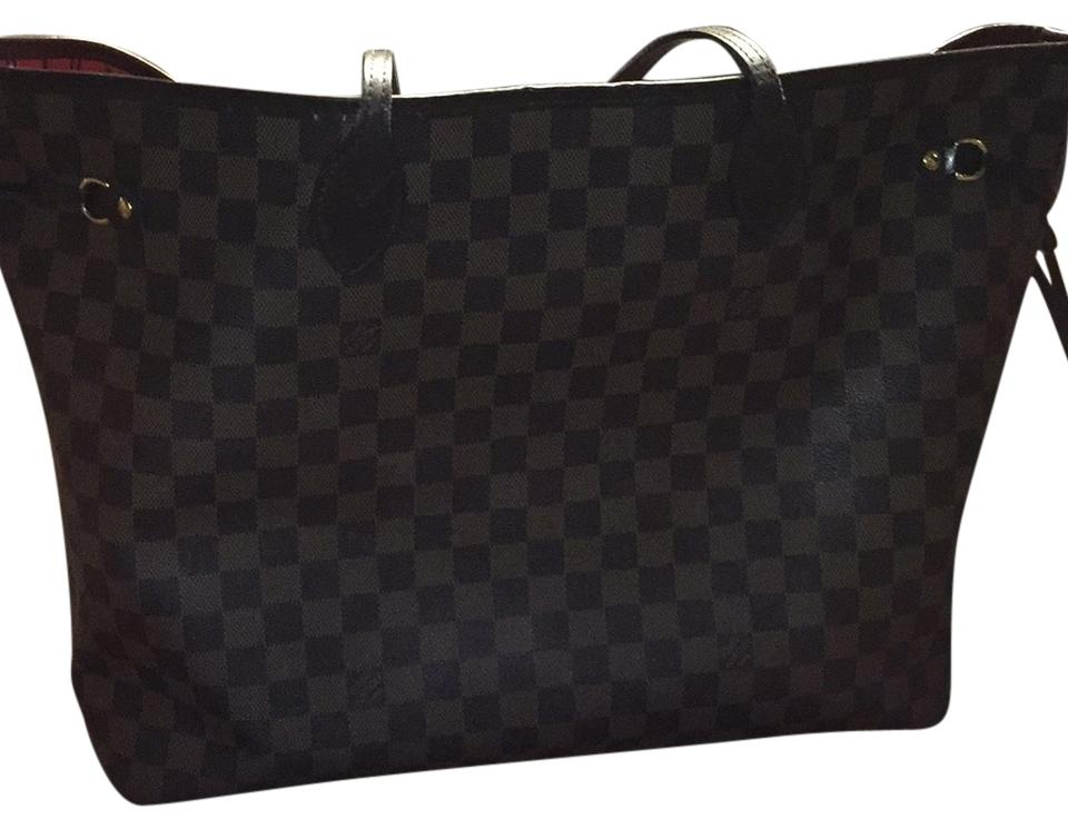 louis vuitton neverfull black. louis vuitton tote in brown neverfull black o